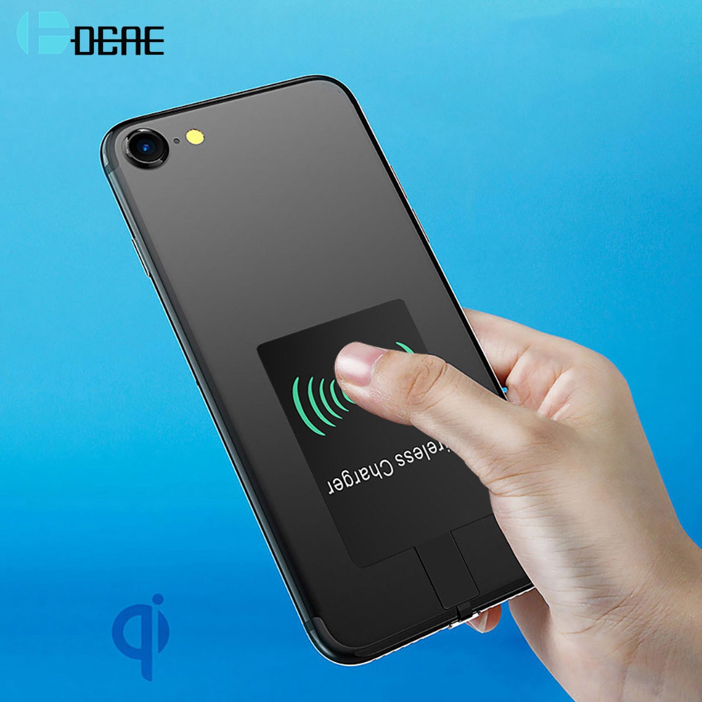 DCAE QI Wireless Charging Charger Receiver Patch Module Pad Adapter Micro USB Type-C Mobile For IPhone 5s 6 6s 7 Samsung Xiaomi