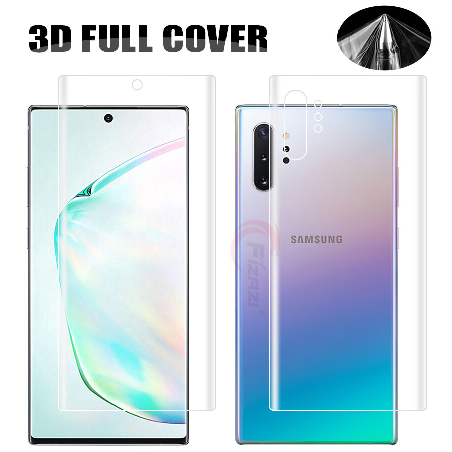 Front+Back Soft TPU Film Screen Protector For Samsung Galaxy Note 10 S10 Plus S10E S7 Edge A7 A9 A8 Plus 2018 M20 Hydrogel Film