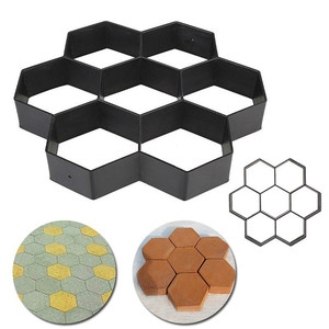 30x 30 x 4 cm Gardening floor concrete mold 8/9 Grids Pathmate Stone Mold Paving Concrete Stepping Pavement Paver N50(China)