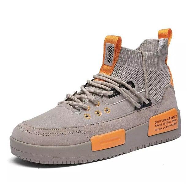 Men Mesh Shoes Rubber Bottom  Wear-Resistant Sneakers 1