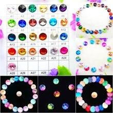 Cristal de verre 6mm 8mm 10mm 12mm 14mm 16mm 18mm couleurs fantaisie mélanger Rivoli forme ronde colle sur strass perles artisanat bricolage garniture