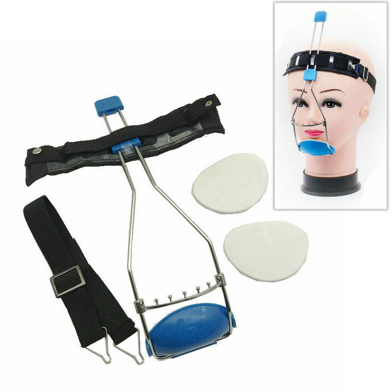 Dental Orthodontic Face Mask Orthodontic Bi-crib Adjustable Headcap Dental Headgear Double Bars Face Mask