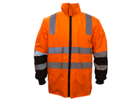 ZUJA High Visibility Motorcycle Winter Reflective Safety Jacket Clothing Waterproof Rain Coat Cycling Protective Jackets
