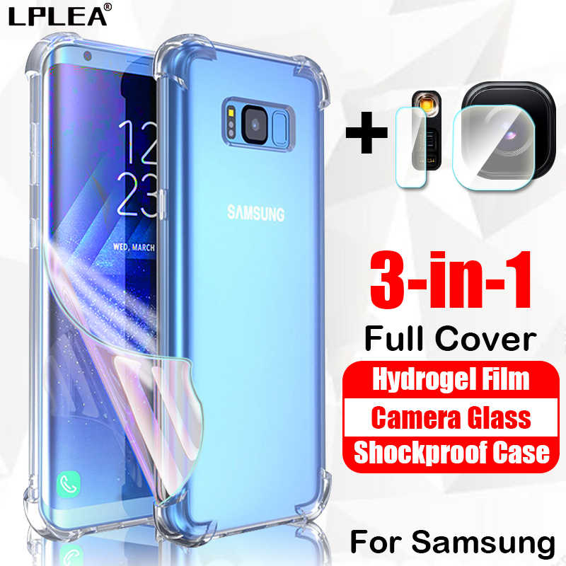 Telefoon Geval Voor Samsung Galaxy A50 Shockproof Cover A70 A20 A10 Hydrogel Film Voor S10 Lite Camera Glas S10E S8 s9 Plus Note 8 9