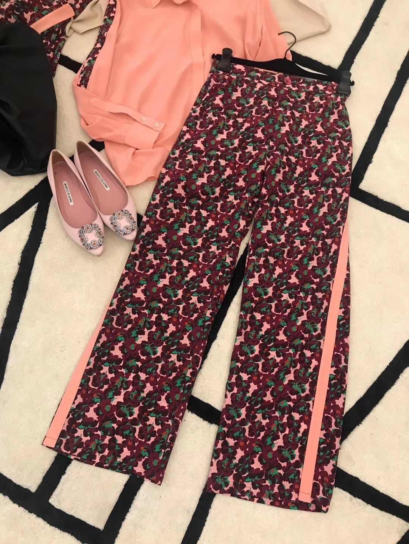 Pantalones De Pierna Recta De Seda De Tela Lateral Sueltos De Moda De 2019 Para Mujer 0107 Pantalones Y Pantalones Capri Aliexpress