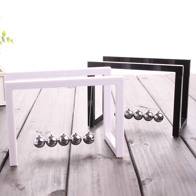 Newton Balls Cradle Balance Ball Newtons Pendulum Ornaments Home Decorations Desk Decoraction Toy Gift Black 3