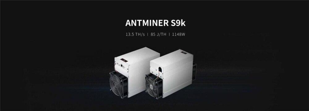 Новый AntMiner S9k 13,5 T с БП Биткойн BTC BCH Майнер лучше чем Antminer S9 13,5 t 14t S9j 14,5 t S9 SE S15 S17 T17 S17E S17 +