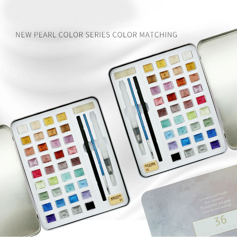 Metallic Watercolor Painting Set