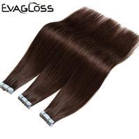 Накладные волосы Remy на ленте, 20 шт., 40 шт., 80 шт., клейкая двухсторонняя лента для наращивания волос 12