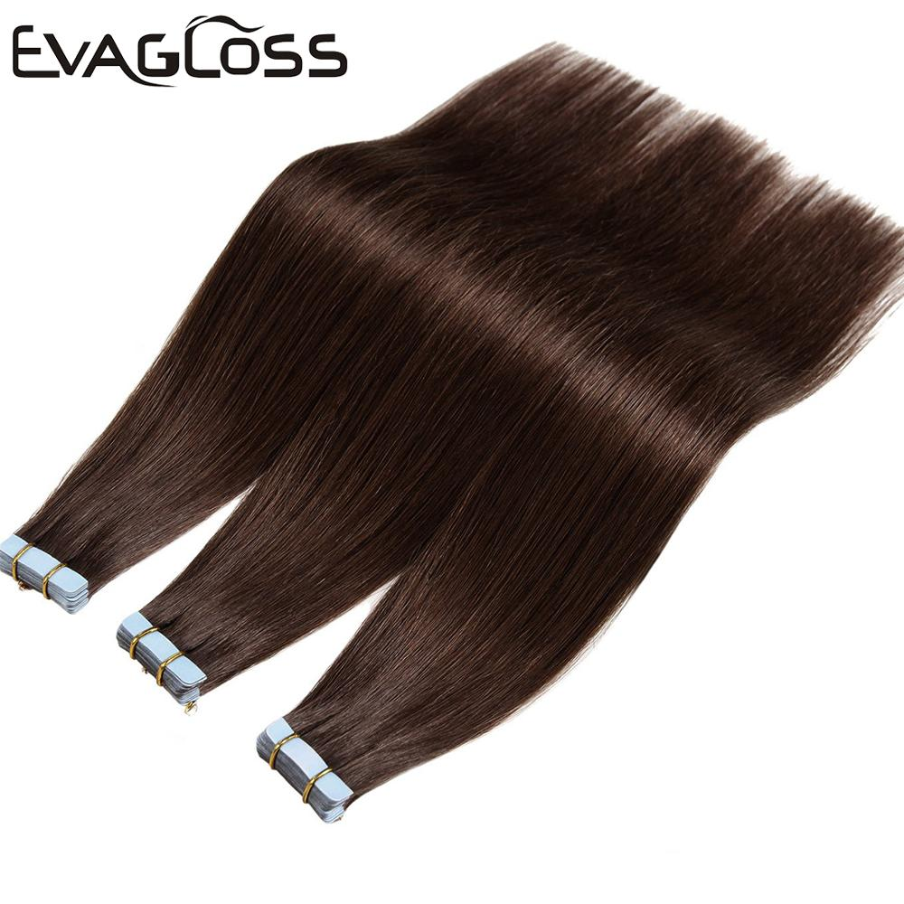 Tape In Human Hair Extensions Skin Weft Machine Remy 20pcs 40pcs 80pcs Adhesive Double Sided Tape In Hair Extensions