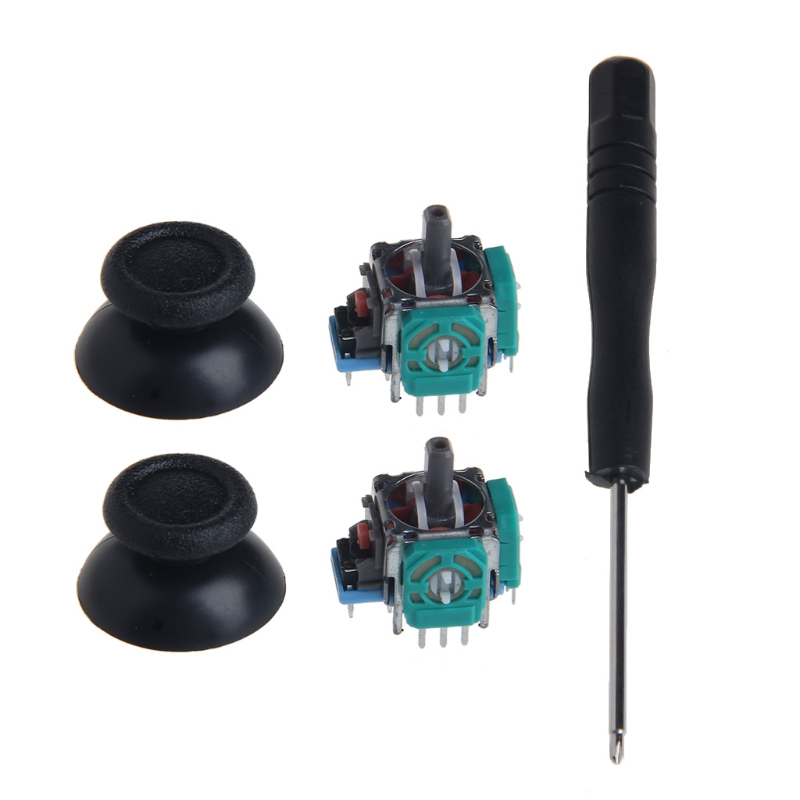 1 Set 3D Joystick Axis Analog Sensor Module Thumbsticks Cap For PS4 Controller
