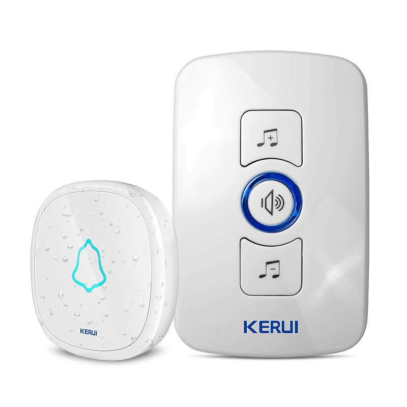 KERUI High Quality Home Security Wireless Welcome Emergency Alarm Door Bell 433MHz Entry Door Alert Waterproof Button Doorbell