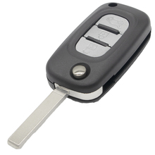 WhatsKey 2/3 Button Replacement Remote Flip Folding Car Key Shell Case Fob Cover For Renault Fluence Clio Megane Kangoo Modus цена 2017