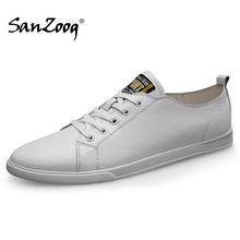 Spring Autumn Genuine Leather Sneakers Casual Men Shoes Chau