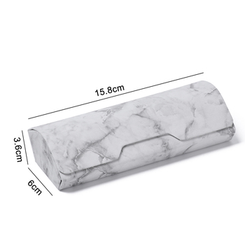 1Pc Marble Pattern Portable Magnetic Glasses Case Glasses Box Waterproof PU Eyewear Cover Sunglasses Cases Handmade Hot Sale 10