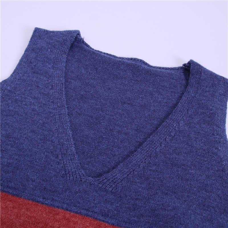 봄 한국 니트 조끼 스웨터 여성 2019 가을 조끼 민소매 풀오버 여성 스웨터 니트 탑