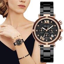 Lüks kristal kadın bilezik saatler Top marka moda elmas bayanlar Quartz saat çelik kadın kol saati Montre Femme Relogio