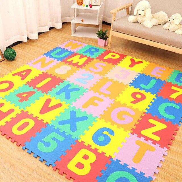 30*30cm pianki alfabetu angielskiego z wzorem cyfry mata do zabawy dla dziecka puzzle dla dzieci zabawki jogi list maty do raczkowania dywan dywan zabawki