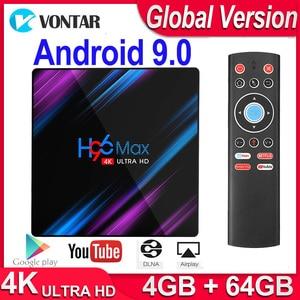 Image 1 - 2020 H96 MAX RK3318 Android TV BOX Android 9 Smart TV BOX Max 4GB RAM 64GB ROM Google PlayStore Youtube 4K Set top Box 2GB 16GB