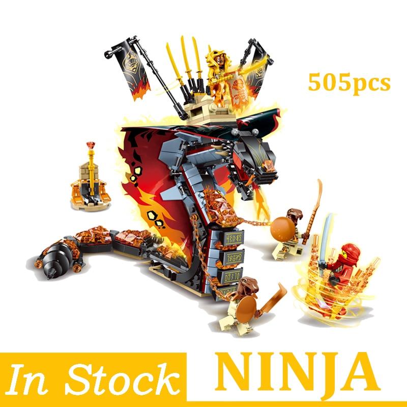 Ninjagoed Blocks Fire Python Monster Figures  Blocks Bricks Dolls Toys Birthday Christmas Gifts For Children Kids  Ninja Set