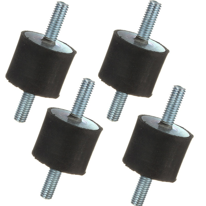 25 X 20mm M6 Rubber Absorbers Vibration Isolator Mounts Double End Male Thread Anti Vibration Isolator Durable