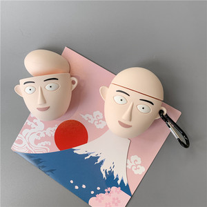Image 5 - 3D חמוד יפן קריקטורה אחת אגרוף איש בסאיטמה אוזניות מקרים עבור Apple Airpods 1/2 סיליקון עמיד הלם הגנת אוזניות כיסוי
