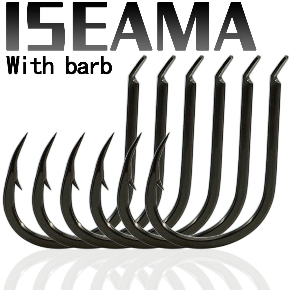 ISEAMA Fishing Hooks Set Barbed Carp Hook High Carbon Steel Sea Fishinhook Fly Fishing Accessories Tackle