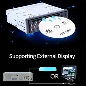 Image 2 - 1 عرض سيارة CD DVD VCD لاعب بلوتوث 4.0 يدوي راديو FM إخراج الفيديو الموسيقى مشغل ديفيدي/USB/AUX/TF LCD السيارات الوسائط المتعددة