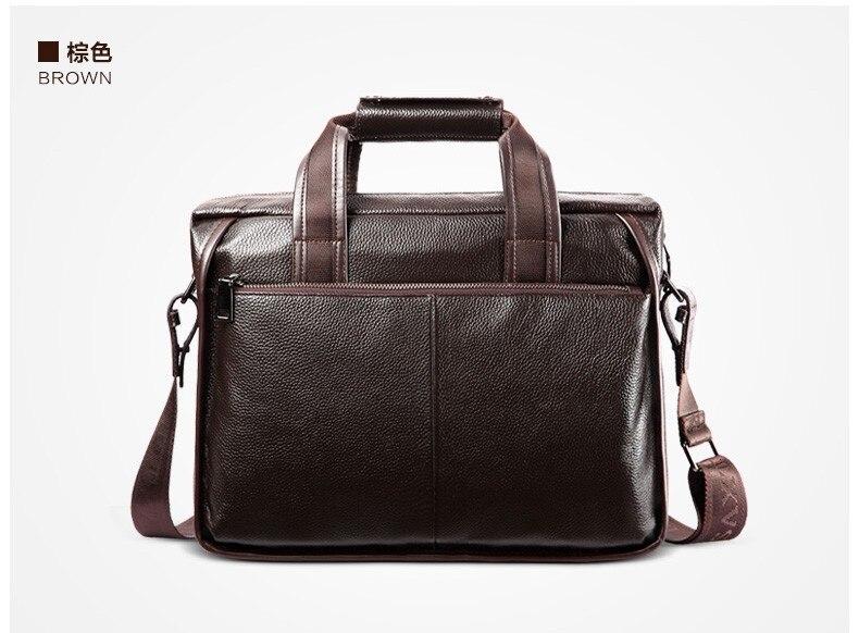 H323bc0c415014f18a91eea2f23d95694w 2019 New Fashion cowhide male commercial briefcase /Real Leather vintage men's messenger bag/casual Natural Cowskin Business bag