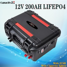 Battery 200ah Solar-Energy Outdoor 12v Lifepo4 Camping Rechargeable with BMS for And