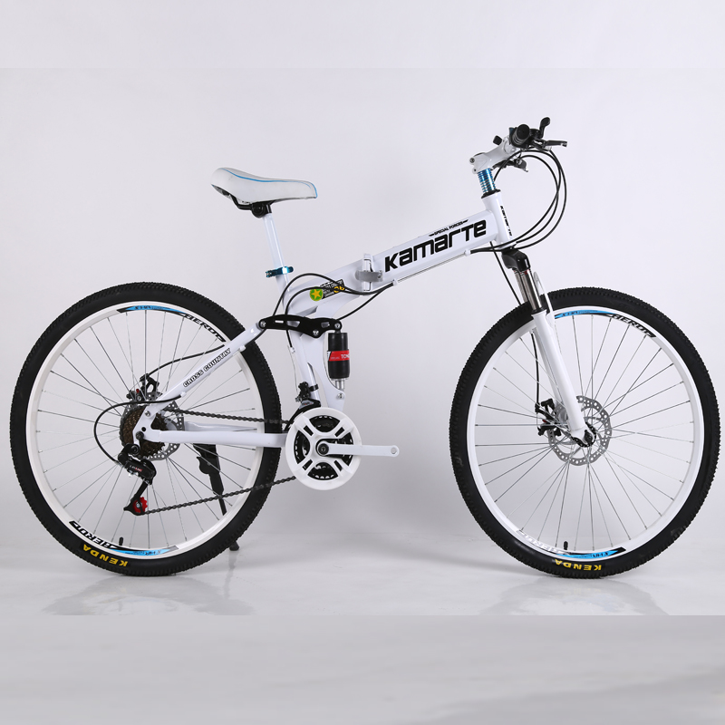 21 speed mountain bike cheap adult spoke wheel mountain bicycle folding mountain bike 24/26 inch bicycle image