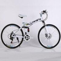 21 سرعة دراجة هوائية جبلية رخيصة الكبار عجلة بقضبان دراجة جبلية دراجة تسلق جبال قابلة للطي 24/26 بوصة دراجة-في الدراجات من الرياضة والترفيه على