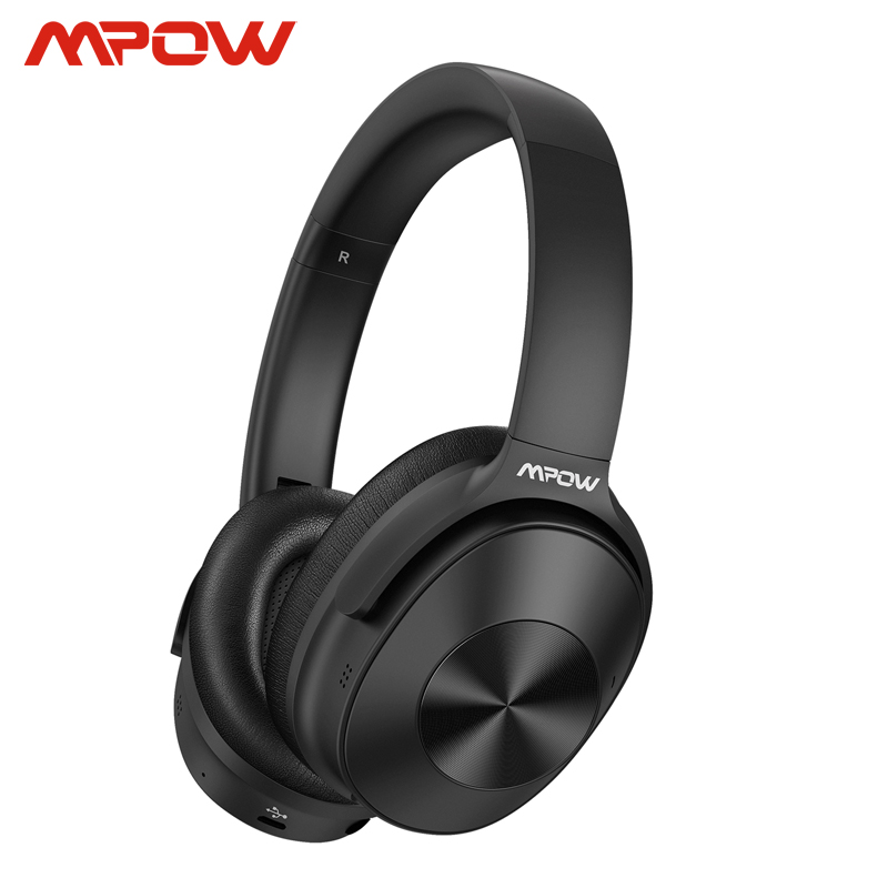 Mpow H12 Hybrid Active Noise Cancelling Bluetooth Headphones 30H Playing Time 40mm Driver Wireless Wired 2 In 1 For Travel Work