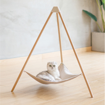 Simple Tripod Pet Bed Hanging Cat Hammock Bed Wooden Portable Radiator Beds Kitten Hamaca Para Gato Chat Lit Hond Bed DD50MW