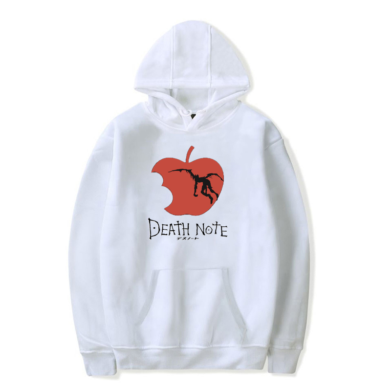 Death Note Unisex Sweatshirts Autumn Cartoon Hooded Pullover Women Men Harajuku Long Sleeve Hoodie Boys/Girls Hip Hop Sweatshirt