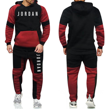 Brand Fashion Tracksuit Warm and Velvet Men Sport   1