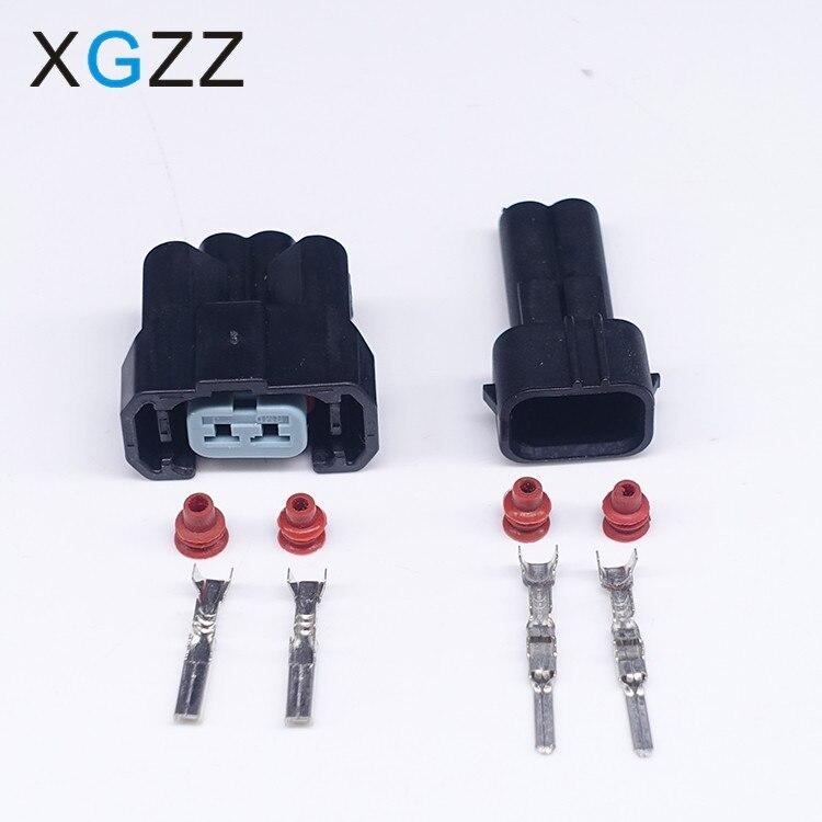 Set of 6 Honda OBD2 TO EV6 Fuel Injector Connector Clips Plug Converter