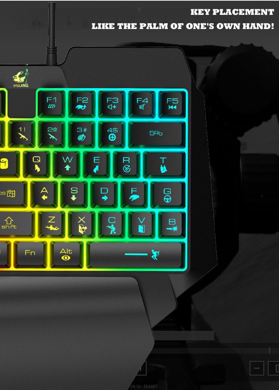 usb teclados de mão única para ps4 xbox pc