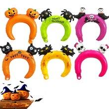 50pcs Happy Halloween Headwear Party Decoration Childrens Day bats Pumpkin Balloon Headband Giraffe Squirrel Ballon