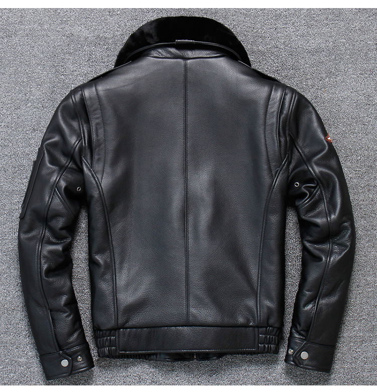 H323c3558a2984a0d853f4de4b1b83104t 2019 Vintage Men's G1 Air Force Pilot Jackets Genuine Leather Cowhide Jacket Plus Size 5XL Fur Collar Winter Coat for Male