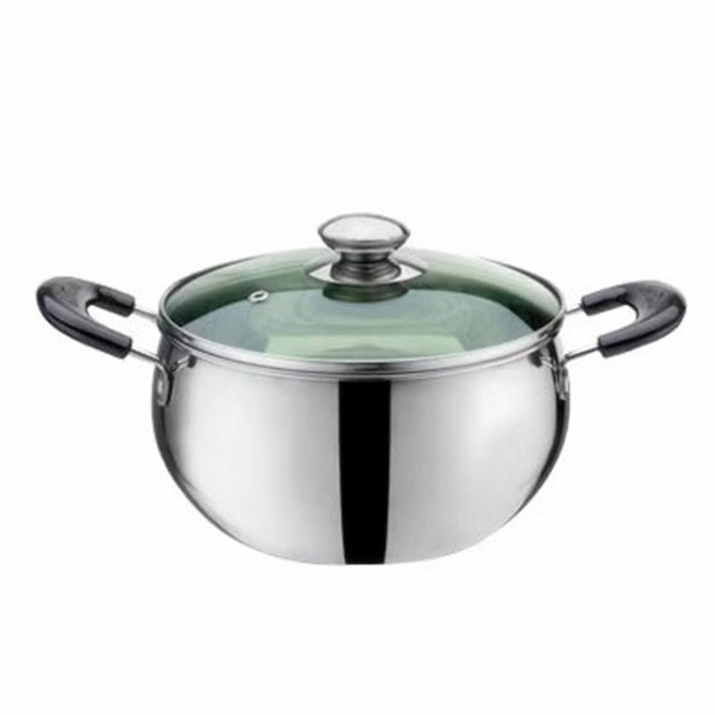Baby Food Supplement Pot Household Soup Pot Milk Pot Porridge Cooking Noodles Stainless Steel Thick Non-stick Cooker Gas Stove