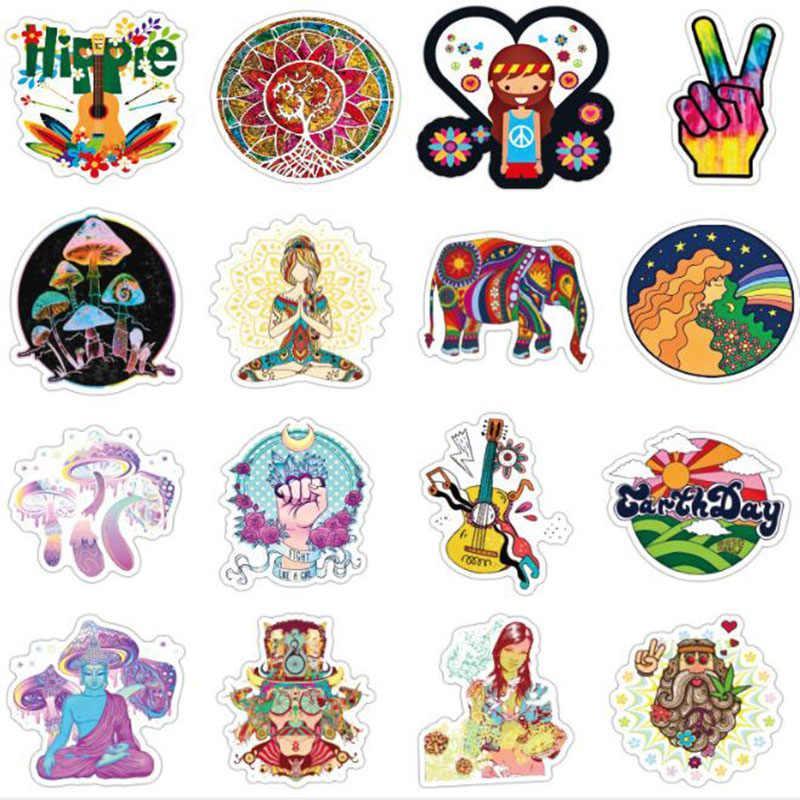 10/100 Buah/Set Perdamaian Hippie Tahan Air Stiker untuk Bus Truk Bagasi Laptop Kulkas Skate Ski Sepeda Motor Anak-anak Mobil Stiker