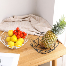 Nordic iron Metal Fruit Plate Bowl Vegetable Storage Bowls Kitchen Egg Baskets Holder Minimalism