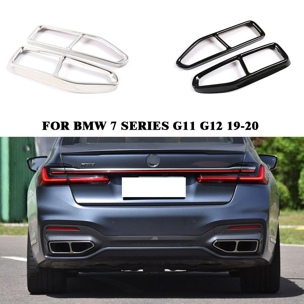 Стальной глушитель выхлопной трубы Yubao 2 шт./1 пара, комплект крышек для выхлопной трубы для BMW 7 серии G11 G12 2019-2020