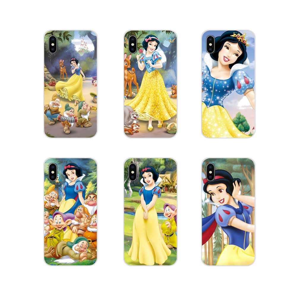 For Huawei Mate Honor 4C 5C 5X 6X 7 7A 7C 8 9 10 8C 8X 20 Lite Pro Accessories Bag Case christmas Princess Snow White fairy tale image