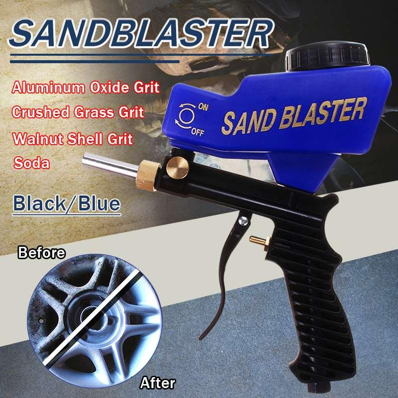 Portable Gravitys Sandblasting Guns 150PSI Pneumatic Small Sand Blasting Machine Adjustable 600cc Pneumatic Sandblasting