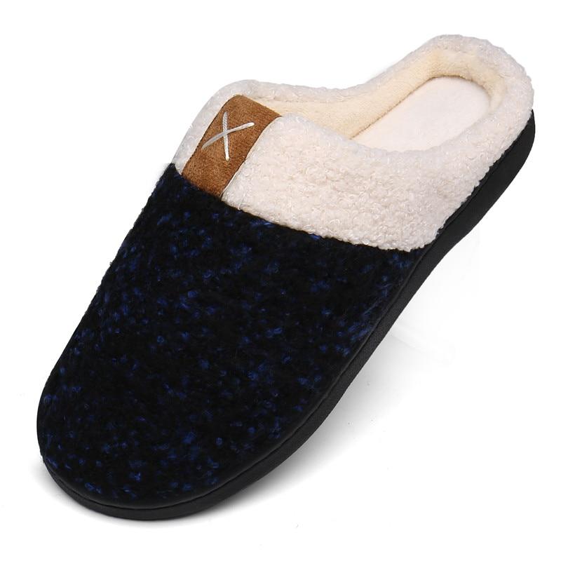 Winter Home Slippers Men House Flip Flops Women Warm Plush Slippers Boy Indoor Flats Soft Cotton Shoes Plus Size Pantufa Hombre