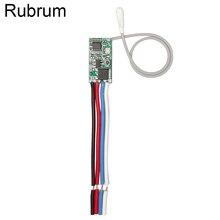 Rubrum Interruptor de Control remoto inalámbrico Universal, 433 Mhz, CC, 3,6 V 24V, 433 Mhz, 1 CH, receptor de relé RF, Kit de Controlador de luz LED