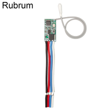 Rubrum uniwersalny bezprzewodowy 433 Mhz DC 3.6V 24V pilot przełącznik 433 Mhz 1 CH RF przekaźnik odbiorczy kontroler oświetlenia LED DIY Kit