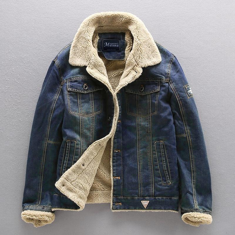 Jean Jacket Men Thick Streetwear Denim Bomber Jackets Coat Male Vintage Blue Men's Outwear Plus Velvet Single Breasted Windbreak Men Men's Clothings Men's Sweaters/Coats/Jackets cb5feb1b7314637725a2e7: MG66009 Dark Blue|MG66009 Light blue
